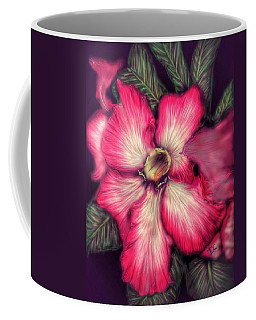 Coffee Mug featuring the digital art Hawaii Flower by Darren Cannell