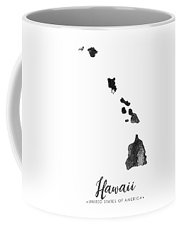 Hawaii State Map Art - Grunge Silhouette Coffee Mug