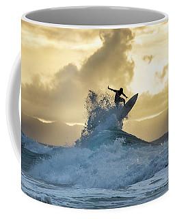 Hawaii Surfing Sunset Polihali Beach Kauai Coffee Mug