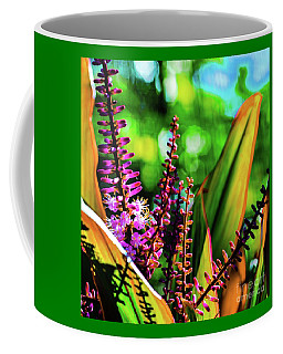 Coffee Mug featuring the photograph Hawaii Ti Leaf Plant And Flowers by D Davila