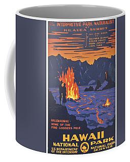 Hawaii Vintage Travel Poster Coffee Mug