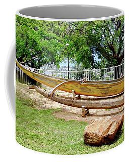Hawaiian Canoe At Lahainaluna High School Coffee Mug