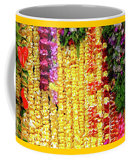 Coffee Mug featuring the photograph Hawaiian Flower Lei's by D Davila