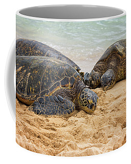 Hawaiian Green Sea Turtles 1 - Oahu Hawaii Coffee Mug