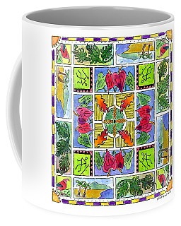 Hawaiian Mandala Iv - Anthuriums Coffee Mug