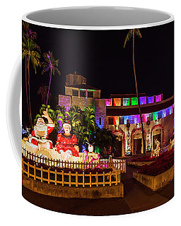 Hawaiian Santa And Christmas Tree  Coffee Mug