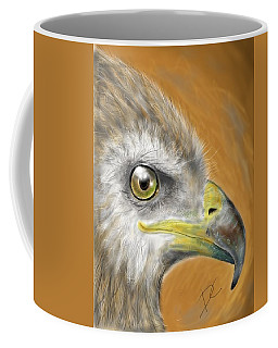 Coffee Mug featuring the digital art Hawk by Darren Cannell