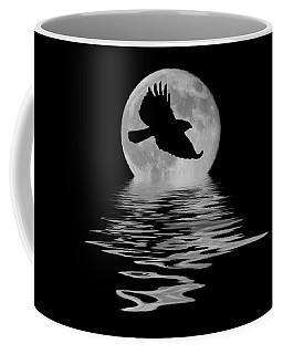 Hawk In The Moonlight Coffee Mug