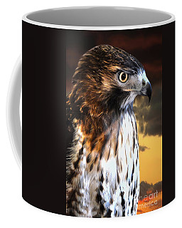 Hawk Sunset Coffee Mug by Adam Olsen