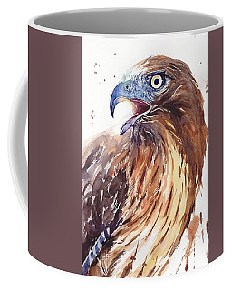 Hawk Watercolor Coffee Mug
