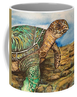 Hawkbilled Sea Turtle Coffee Mug