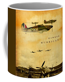 Coffee Mug featuring the digital art Hawker Hurricane Raf by John Wills