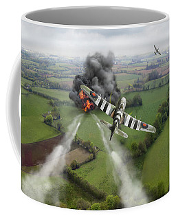 Coffee Mug featuring the photograph Hawker Typhoon Rocket Attack by Gary Eason