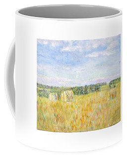 Hay And Bales In The Countryside Coffee Mug