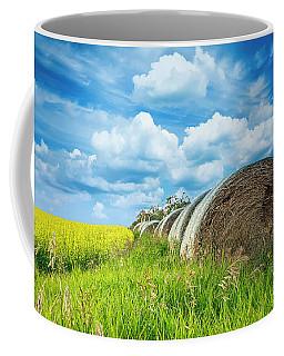 Hay And Canola Under A Summer Sky Coffee Mug
