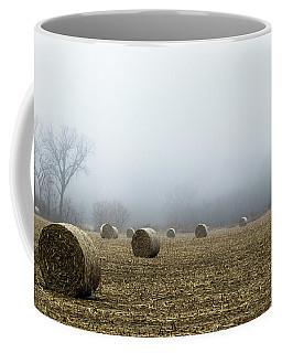 Hay Bales In A Field Coffee Mug