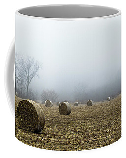 Hay Bales In A Field Coffee Mug