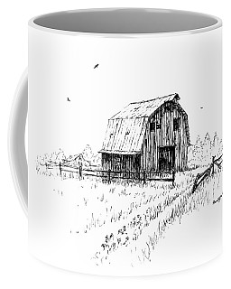 Hay Barn With Broken Gate Coffee Mug
