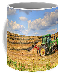Nebraska Hay Raker At Rest Coffee Mug