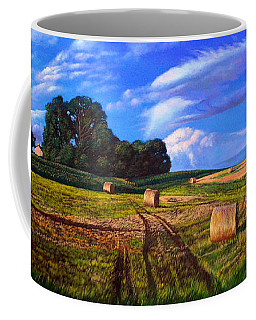 Hay Rolls On The Farm By Christopher Shellhammer Coffee Mug