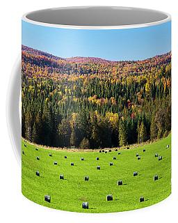 Hayfield Landscape Coffee Mug by Alan L Graham