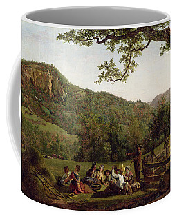 Haymakers Picnicking In A Field Coffee Mug
