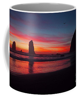Haystack Rock At Sunset 2 Coffee Mug