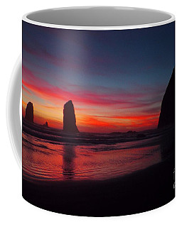 Haystack Rock At Sunset Coffee Mug