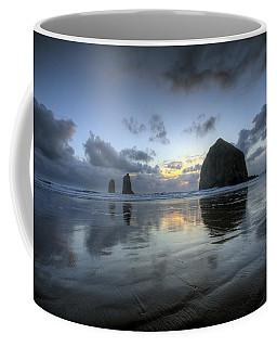 Haystacks At Sunset Coffee Mug
