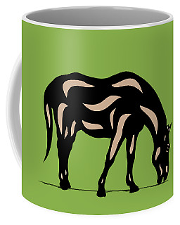 Hazel - Pop Art Horse - Black, Hazelnut, Greenery Coffee Mug