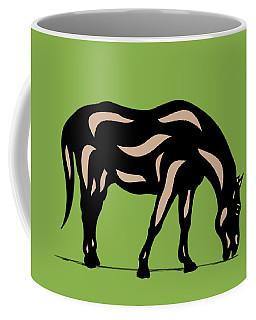 Hazel - Pop Art Horse - Black, Hazelnut, Greenery Coffee Mug