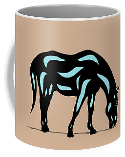 Hazel - Pop Art Horse - Black, Island Paradise Blue, Hazelnut Coffee Mug