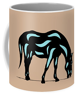 Hazel - Pop Art Horse - Black, Island Paradise Blue, Hazelnut Coffee Mug