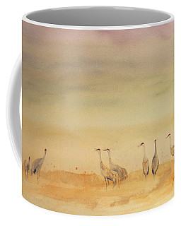 Hazy Days Cranes Coffee Mug