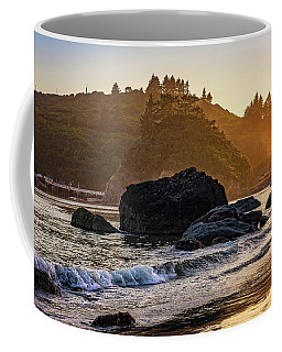 Hazy Golden Hour At Trinidad Harbor Coffee Mug