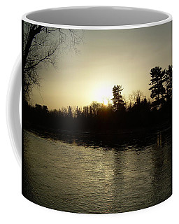 Coffee Mug featuring the photograph Hazy Mississippi River Sunrise by Kent Lorentzen