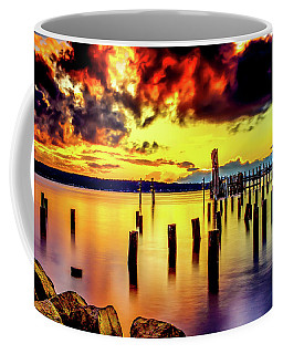 Hdr Vibrant Titlow Beach Sunset Coffee Mug by Rob Green