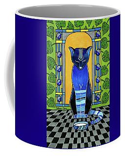 He Is Back - Blue Cat Art Coffee Mug