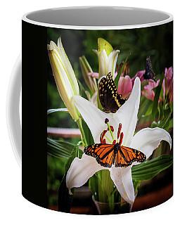Coffee Mug featuring the photograph He Still Gives Me Butterflies by Karen Wiles