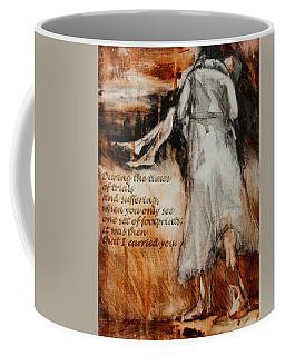 He Walks With Me - Footprints 2 Coffee Mug