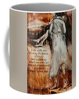 I Am With You - Footprints Coffee Mug