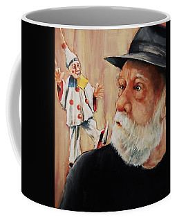 He Was Always Looking Over His Shoulder Coffee Mug by Jean Cormier
