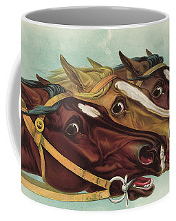 Head And Head At The Winning Post Coffee Mug