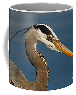 Head Of A Great Blue Heron Coffee Mug