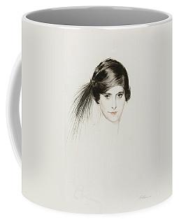 Head Of Helena Rubinstein With Egret Feathers Coffee Mug