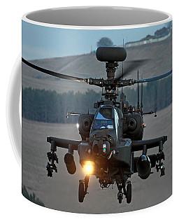 Head On Ah64 Apache Coffee Mug by Ken Brannen