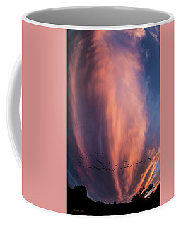 Heading For Cover Coffee Mug by Karen Slagle