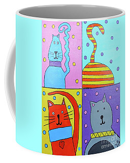 Coffee Mug featuring the painting Heads And Tails by Sean Brushingham