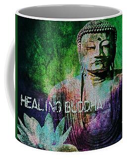 Coffee Mug featuring the digital art Healing Buddha by Absinthe Art By Michelle LeAnn Scott