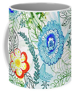 Coffee Mug featuring the painting Healing Garden by Monique Faella